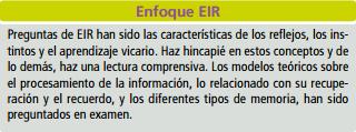 Memoria Aprendizaje EIR